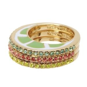 Kate Spade New York Out Of Office Fruit Ring Sz 5